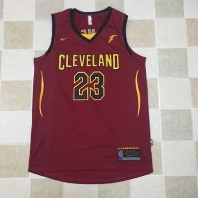 NWT LeBron James 23 Red 2018 Cleveland Cavaliers Swingman Basketball Men Jersey
