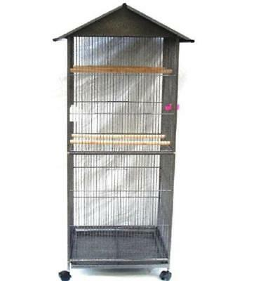 Large Liberta Angel African Grey Amazon Play Top Parrot Cage Antique