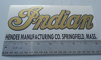 Indian Motorcycle Tank Decal Metallic Gold with Black Hendee Manufacturing New