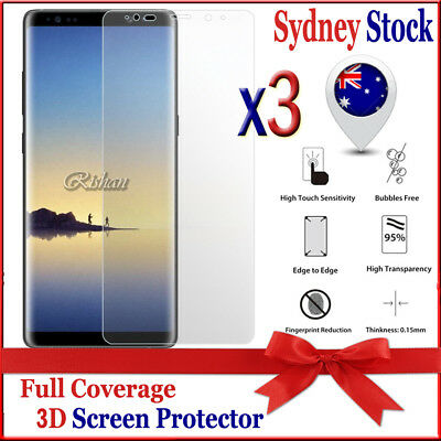 3X Full Coverage 3D Curved Screen Protector Film For Samsung Galaxy Note 8