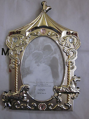 Lenox Portrait Gallery Carousel Picture Frame Baby Jewel Collection 4 X 6