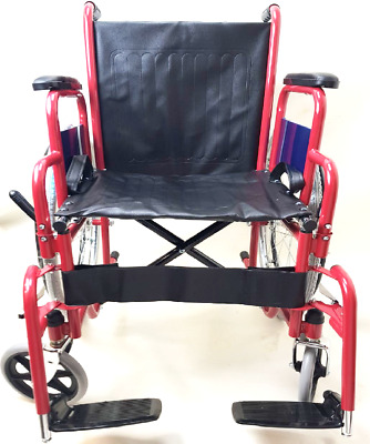 Lightweight folding transit aluminium travel wheelchair Multi Colours