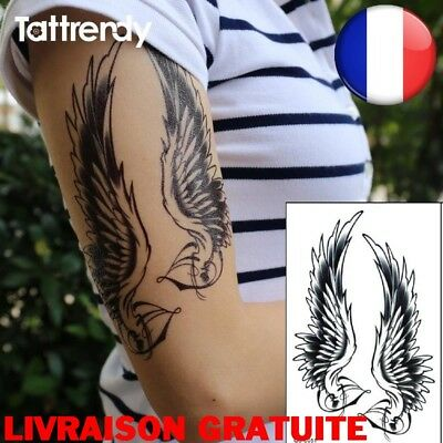 Tattoo Femmes Hommes Impermeables Epaule Sexy Bras Ailes D Ange
