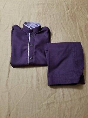Pakistani Indian Shalwar Kameez For Boys , Size 4 To 6 Years Purple Color