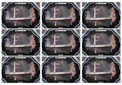 9x STEEL SHOWCASE BLUE TYREESE The Walking Dead Card Trader Digital
