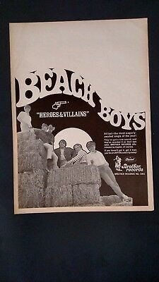 "THE BEACH BOYS ""Heroes & Villains"" 1967 Original Promo Poster Ad"