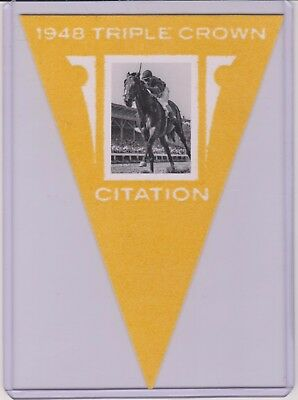 2012 Panini Golden Age Citation Yellow Parallel Pennant / Flag #16  Triple Crown