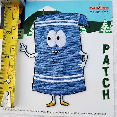 """South Park TOWELIE IRON ON PATCH 4"""" Comedy Central  MINT CONDITION"""