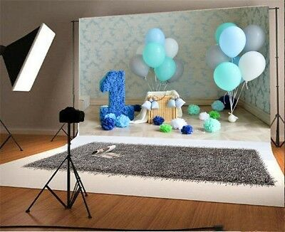 5x3ft Baby 1st Birthday Party Background Vinyl Photo Backdrop Photography Banner