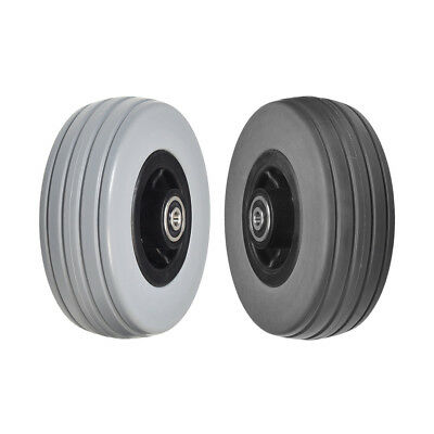 "6""x2"" Front or Rear Caster Wheels for Quantum Q6 Edge & Q6000Z Gray or Dark Gray"