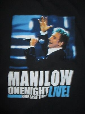 """BARRY MANILOW """"One Night Live! One Last Time!"""" Concert Tour (XL) T-Shirt"""