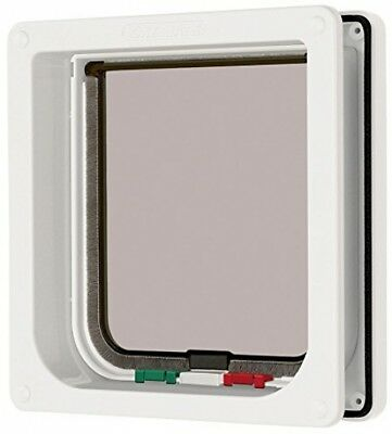 Cat Mate 4 Way Locking Cat Flap With Door Liner To 50mm - White