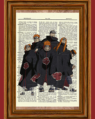 Six Paths of Pain Ninja Anime Dictionary Art Print Poster Picture Japan Naruto