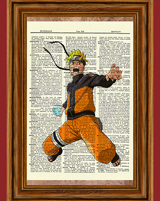Naruto Ninja Anime Dictionary Art Print Poster Picture Japan Book Manga