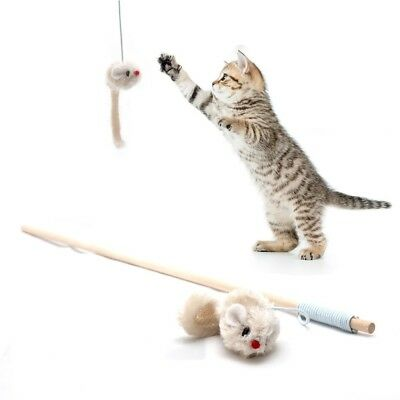Toy Fishing Rod For Cats - With Plush Mouse