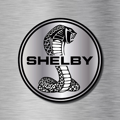 "(2) Cobra Shelby Ford Mustang GT Vinyl Stickers Decals Pony Car USA  3""x3"" NEW"