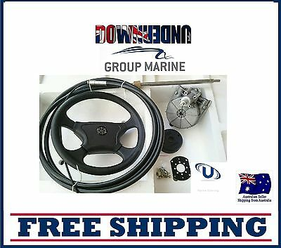 NEW  6.09m~20FT BOAT STEERING WHEEL SYSTEM QUICK CONNECT STEERING KIT