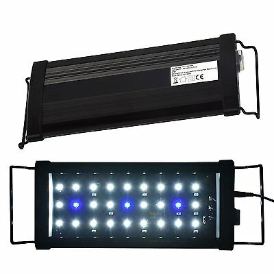 AquarienEco Aquarium Light for 30cm-45cm Fish Tank LED Hood Lights Blue White
