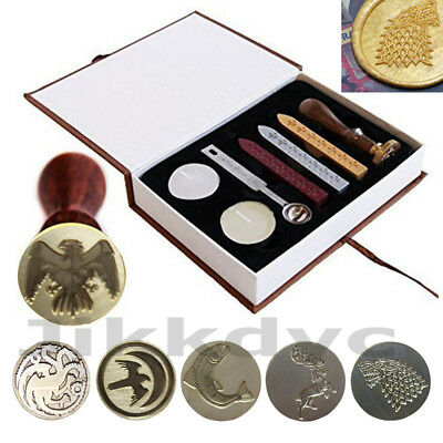 Game of Thrones House Family Badge Vintage Wax Stick Seal Stamp Invitation Set