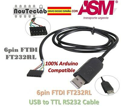 6pin FTDI FT232RL USB to Serial Adapter Cable USB to TTL RS232