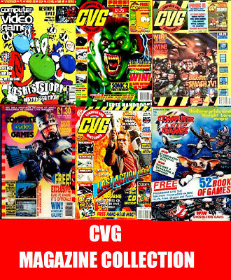 CVG COMPUTER & VIDEO GAMES Magazines on DVD 177 PDF Issues on 3 DVD Retro Gaming