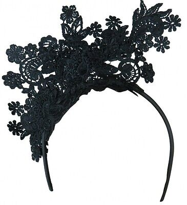 Morgan And Taylor Black Lace Fascinator Races Wedding Melbourne Cup Derby Day