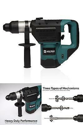 1.5 Inch SDS Rotary Hammer Drill Includes Demolition Bits Flat and Point Chisels