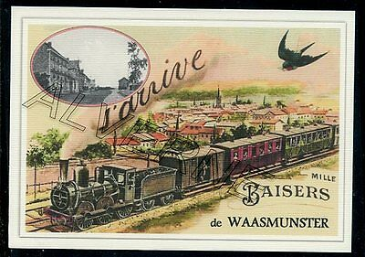 WAASMUNSTER  - train souvenir creation moderne - serie limitee numerotee