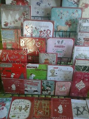 120 top family Christmas cards. wholesale joblot greeting cards
