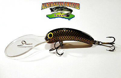 Australian Crafted Lures- 50mm slim invader gold carp col;39, 30ft a.c.lures