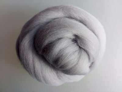 Pearl Grey* 100% Merino Wool Roving Tops for Felting 50g