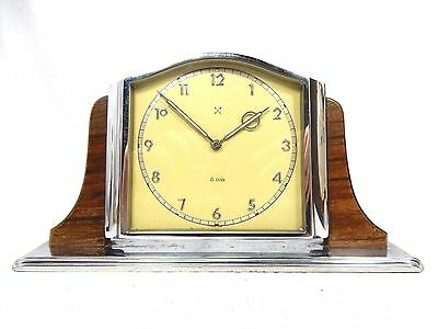 Beautiful schöne JUNGHANS Art Déco Design Tischuhr  table clock  8 days working