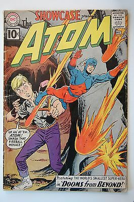 SHOWCASE #35 THE ATOM (1961 DC) - Ray Palmer Gil Kane Art (GD/VG)