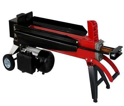 Progen Electric Hydraulic 5 Ton Log Splitter Heavy Duty Wood Timber Cutter
