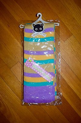 NEW WITH TAGS Sanrio Hello Kitty Chococat Brown/Blue/Yellow Multi-Color Scarf