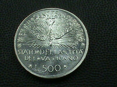 VATICAN   500  Lire  1978  BRILLIANT  UNCIRCULATED ,  FROM  MINT  SET  ,  SILVER