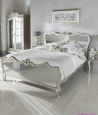 Argente Mirrored King Size Bed