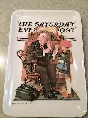 The Saturday Evening Post ** Coin Tip Tray ** Made in Italy **
