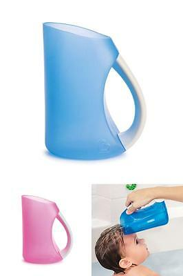 NEW Bathroom Rinser Soft Rim Shampoo Soap Water Rinser with Easy-Grip Handle