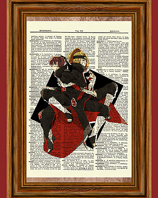 Sasori And Deidara Akatsuki Naruto Anime Dictionary Art Print Poster