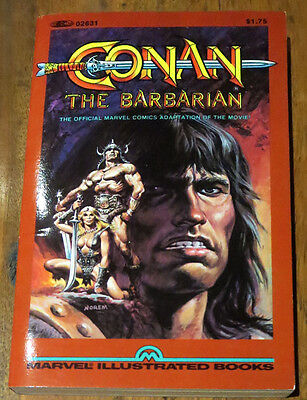 CONAN-THE-BARBARIAN-MARVEL-ILLUSTRATED-BOOKS--PAPERBACK-1st-1982 Unread