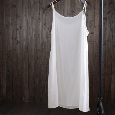 Full Slip Under Dress Shoulder Vest Cotton Strappy Spaghetti Underskirt UI