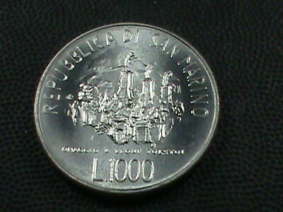 SAN  MARINO 1000 Lire  1978  UNCIRCULATED SILVER  $ 2.99 maximum shipping in USA