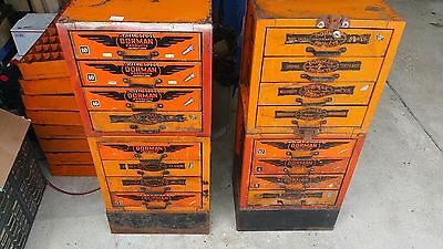 Dorman Parts Cabinet - Vintage Industrial Shop Storage
