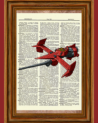 Swordfish Cowboy Bebop Anime Dictionary Art Print Poster Picture Spike Spiegel