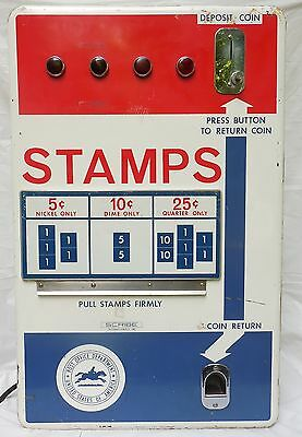 Vintage Stamp Vending Machine Post Office Department POD Scribe 1967 Retired