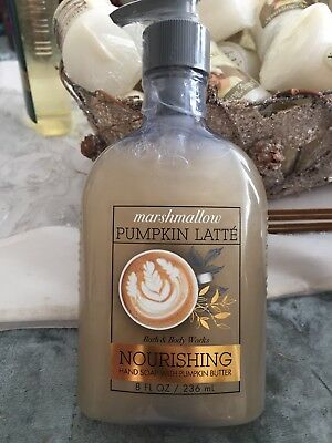 BBW Marshmallow Pumpkin Latte Nourishing Soap With Pumpkin Butter