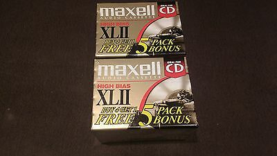 NOS LOT OF 10 MAXELL High Bias XLII 90  Blank Audio Cassette Tapes 2 five packs