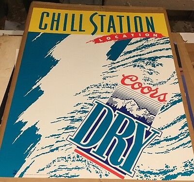 Vintage Poster Coors Dry Beer Chill Station 1992