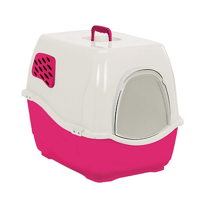 Heritage Sumo Cat Toilet Loo Hooded Litter Tray Cats Pan With Door & Free Filter